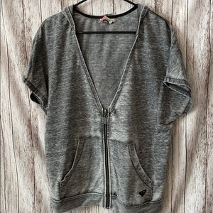 Roxy short sleeve zip up